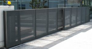 Secure fence and access gate located in Tempe for commercial and business property